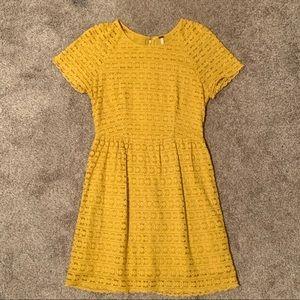 Free People yellow lace dress